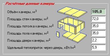 9-Расчётные данные камеры ()